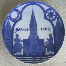 "1907 Royal Copenhagen Commemorative Plate - Aarhus Cathedral - 11"""