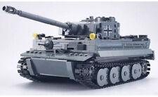 WWII German Panzer Tiger Tank Soldier World War 2 II Grey moc WW2 blocks Germany