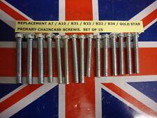 BSA A7 A10 ROCKET RGS B31 B32 B33 B34 GOLD STAR PRIMARY CHAINCASE SCREW SET