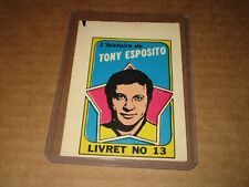 1971-72 O-Pee-Chee Booklet Rare French Insert #13 Tony Esposito Chicago