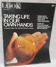 Look Magazine May 18 1971 Test Tube Baby - How To Tie Dye Beachwear