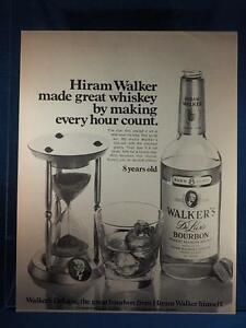 Vintage Magazine Ad Print Design Advertising Hiram Walker Bourbon Whiskey
