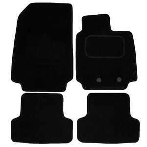 12-Now Rubber Heel Pad Black Carpet /& Green Trim Car Mats Renault Clio Mk4