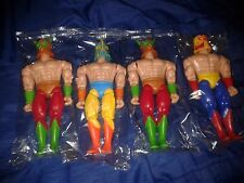 Set Los invencibles del Ring 4 different figures Loose Wrestlers New Bootleg