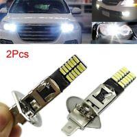 2Pcs Vehicle LED Bulb H1 6500K 24-SMD 4014 Driving DRL Lamp Car Fog Light