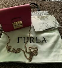 FURLA Womens Leather Cross-Body Metropolis Shoulder Bag Pink