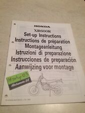 Honda XR600R XR600 R XR 600 instructions preparation setup manuel set-up manual