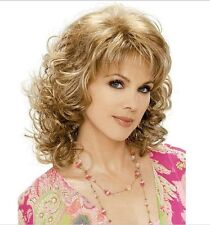 New Brown Blonde Mix Streaked Short Hair Wigs Women's Fashion Wig