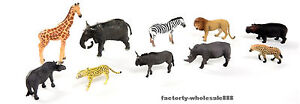 PNSO 10Pcs Most Popular African Animal Family Zoo Limited Model Education Museum