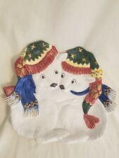 Fitz and Floyd Polar Bear Christmas Canape Plate