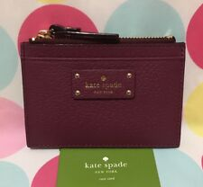 NEW Kate Spade Adi Grove Street Leather Card/Coin Zip Mini Wallet in Rioja $59