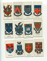 1928 CAVANDERS LTD LONDON TOBACCO CARDS 12 DIFFERENT SCHOOL BADGES