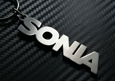 SONIA Personalised Name Keyring Keychain Key Fob Bespoke Stainless Steel Gift