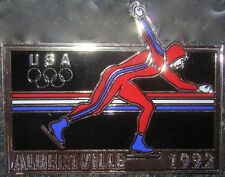 "Albertville 1992 USA Olympics 4"" Long Skater Decal Sticker"