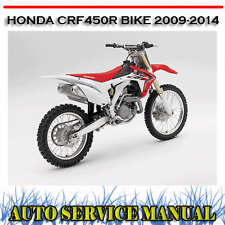 HONDA CRF450R BIKE CRF-450R 2009-2014 WORKSHOP SERVICE REPAIR MANUAL ~ DVD