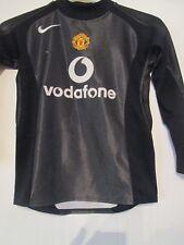 Manchester United Firmado Edwin van der Sar Camiseta de fútbol Grandes Chicos/43482 cert. de autenticidad