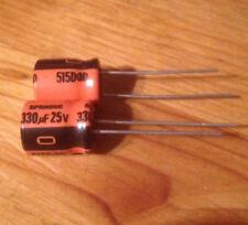 330 uf 25 v alum electrolytic 85 C 515D - 10 pcs