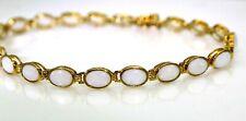 """Pretty Opal 9ct Yellow Gold Tennis Bracelet 7 1/2"""""""