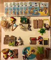 KINDER SURPRISE FERRERO BABY LOONEY TUNES PIRATES ISLAND CAKE TOPPER FIGURES RAR