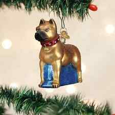 Staffordshire Terrier Dog Glass Ornament Old World Christmas Bull Terrier