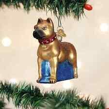 Staffordshire Terrier Dog Glass Ornament Old World Christmas Bull Terrier
