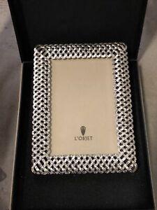 L'Objet Braid Frame 4x6 Platinum New Open Box