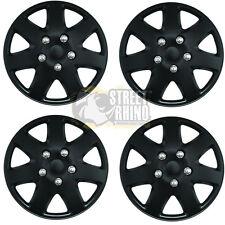 "Fiat 500 16"" Stylish Black Tempest Wheel Cover Hub Caps x4"