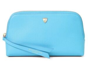 £80 Aspinal of London light  blue Essential Cosmetic Case-Authentic- New