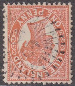 QLD numeral cancellation 66 of BIRRALEE [rated 2R] Type 1d, 5.5mm