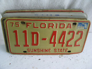 license plate-  Florida- more than 3 years old