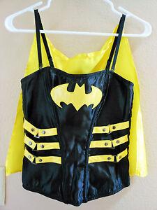 Batgirl Adjustable Corset with Adjust Straps and Removable Cape Adult Superhero