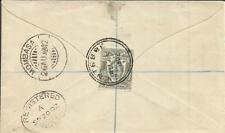 Uganda Protectorate SG#87(single frank) ENTEBBE AU/5/1902 Registered to England