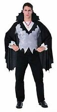 NEW Vampire Count Dracula Costume Adult Mens Vest, Cape & Medallion Halloween