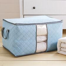Bamboo Charcoal Clothing Organizer Storage Box for Blanket Pillow Folding Bag