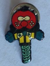 Pogo Stick Crazy Creature Small Pin Badge Kids Collectable (E8)