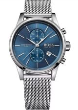 Hugo Boss HB1513441 JET Blue Dial Stainless Steel Strap Mens Chronograph Watch