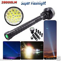 28000LM CREE XM-L LED 21x T6 Super Flashlight Torch Lamp Light 5Mode 26650 18650