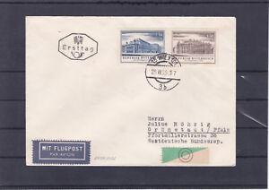 Ö 1955 Burgtheater und Staatsoper Ersttag Flugpost