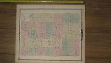 1878 Atlas - Clark & Chippewa County Wisconsin Map ORIGINAL WI falls neillsville