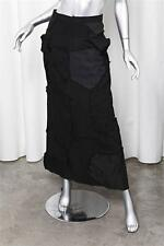 JUNYA WATANABE COMME DES GARCONS Womens Black Patchwork Long A-Line Maxi Skirt S