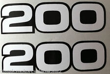 YAMAHA RD200 SIDE PANEL DECALS