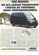 PUBLICITE ADVERTISING 1994   FIAT utilitaire DUCATO #