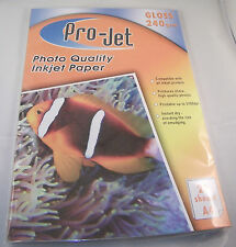 100 SHEETS (5 PACKS OF 20) GLOSS PHOTO PAPER PROJET INSTANT DRY A4 240gsm
