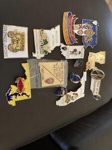 Lot 13 Jaycee Vintage State Enamel Lapel Pin CO, MD, FL, NM, TN, PA, HI, IN, LA