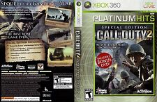 Call of Duty 2 SPECIAL EDITION XBOX 360! INCLUDES BONUS DVD! WORKS ON XBOX ONE!
