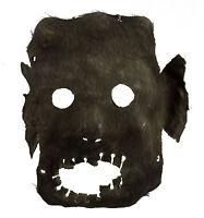 Antico Maschera Di Sciamano IN Pelle -rituale Tantrico-Himalaya Nepal - 799