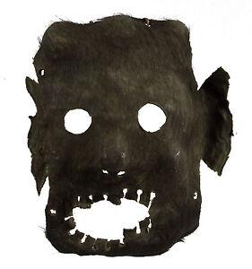 Antique Mask Shaman Leather -ritual Tantric-Himalayas- Tibet Nepal - 799
