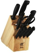 ZWILLING J.A. Henckels Four Star 11 Piece Knife Block Set 35738-001 NEW