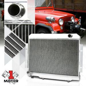Aluminum 3 Row Core Performance Radiator for 72-86 Jeep CJ5/CJ6/CJ7 CJ Manual MT