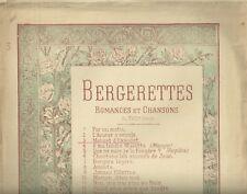 Menuet d'Ehaudet di J. B. Weckerlin Spartito per Canto e Pianoforte 1880 c.a